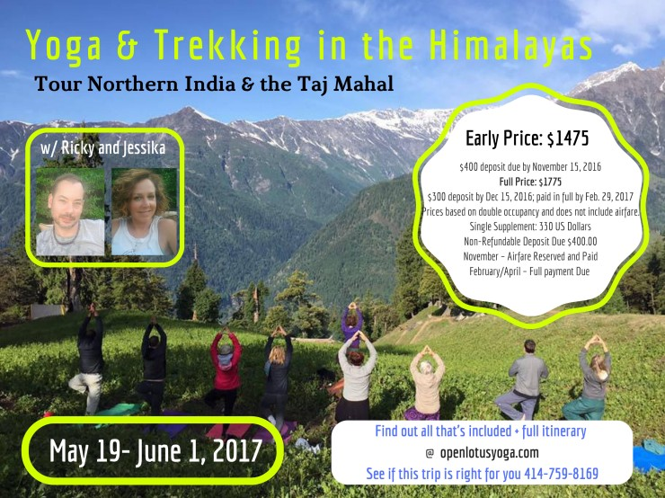 Tour of Northern India + Taj Mahal Poster